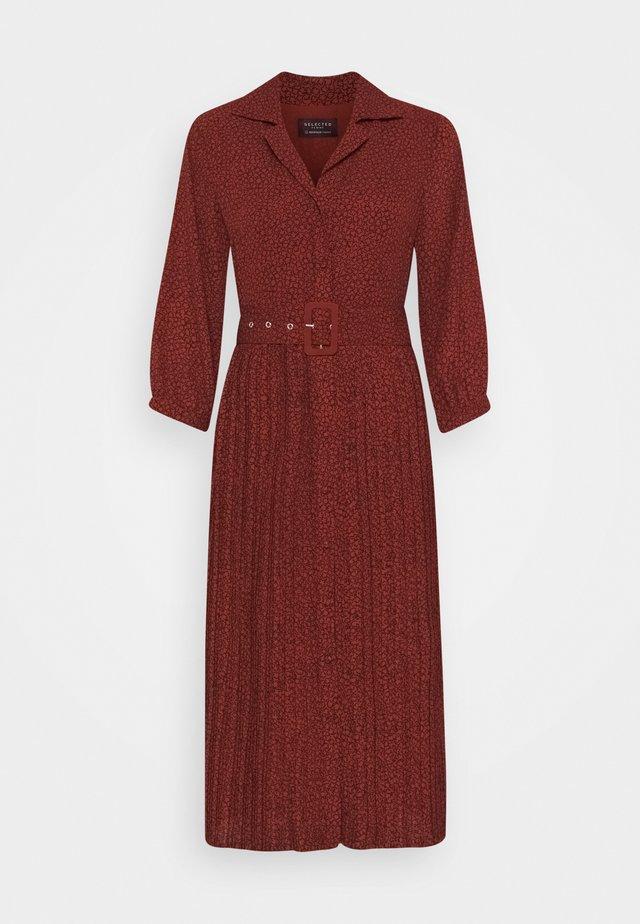SLFKINSLEY ORIANA MIDI DRESS - Korte jurk - red