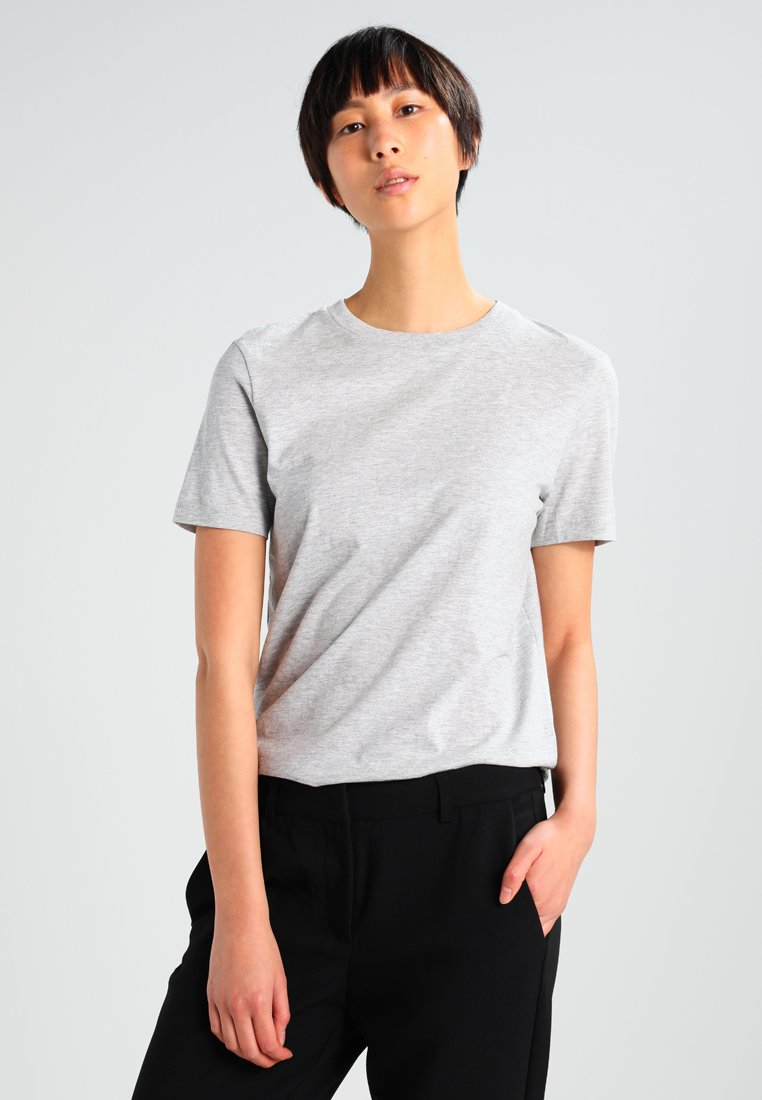 Selected Femme - PERFECT - T-shirt basic - light grey melange