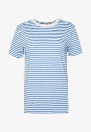 SFMY PERFECT TEE BOX CUT - Print T-shirt - della robbia blue/snow white