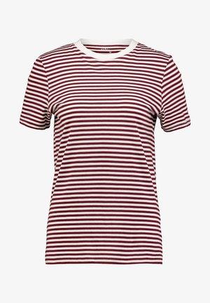 SFMY PERFECT TEE BOX CUT - T-shirt print - cabernet/snow white
