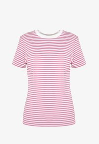 Selected Femme - SFMY PERFECT TEE BOX CUT - T-Shirt print - heather rose/snow white - 4