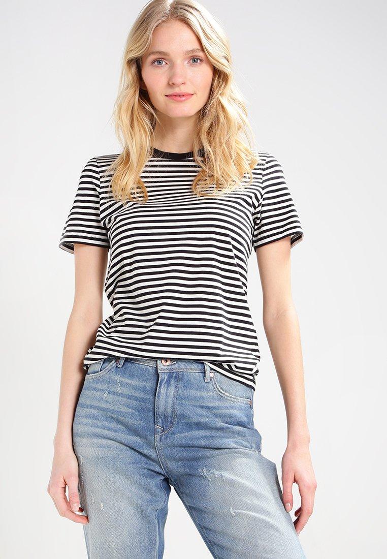 Selected Femme - SFMY PERFECT TEE BOX CUT - Print T-shirt - black