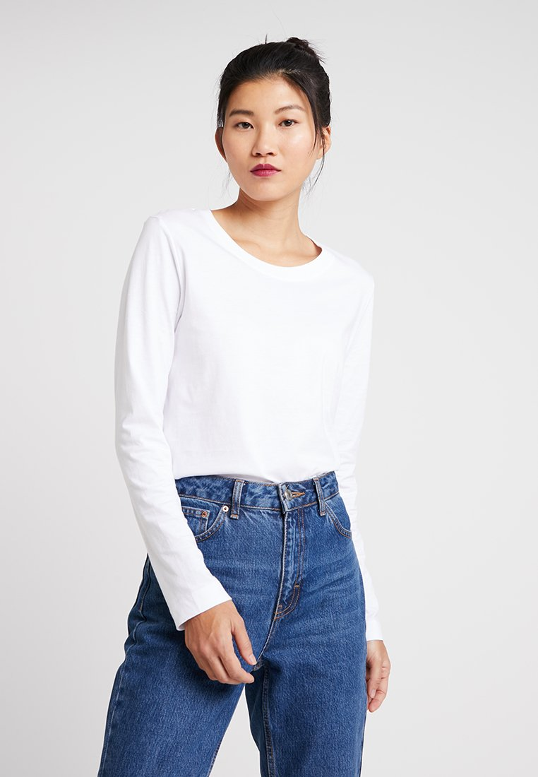 Selected Femme - SLFSTANDARD TEE - Langarmshirt - bright white