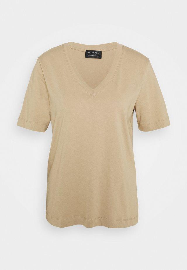 SLFSTANDARD V-NECK TEE SEASONAL - T-shirt basic - tuffet