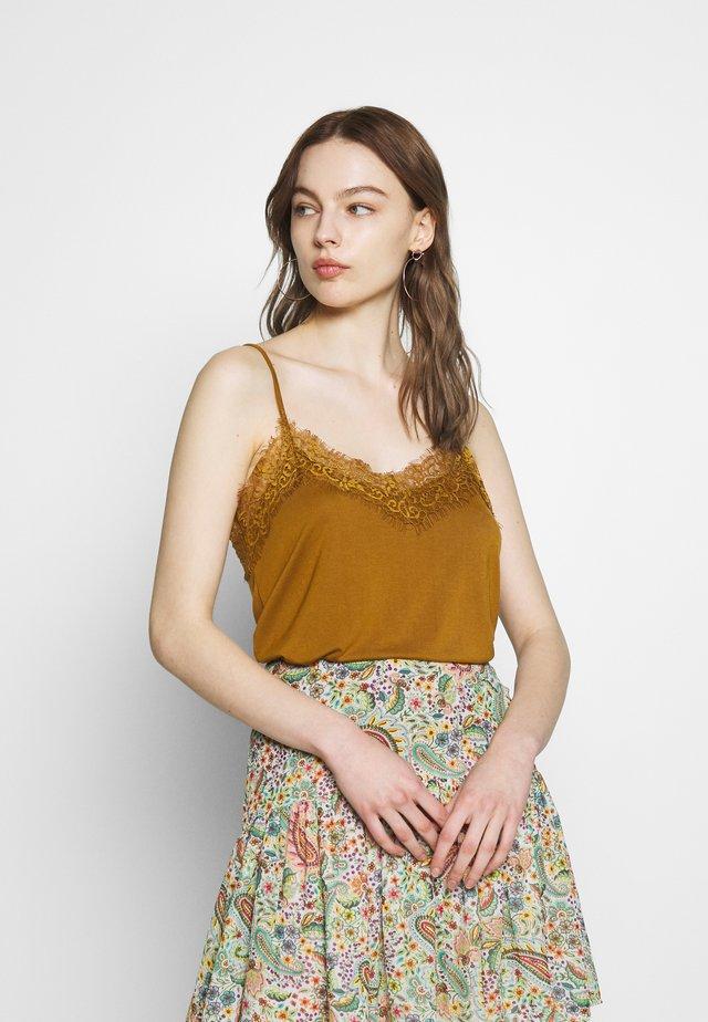 SLFELLA SINGLET - Top - bronze brown