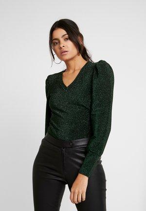 SLFCIA - Sweter - black/green