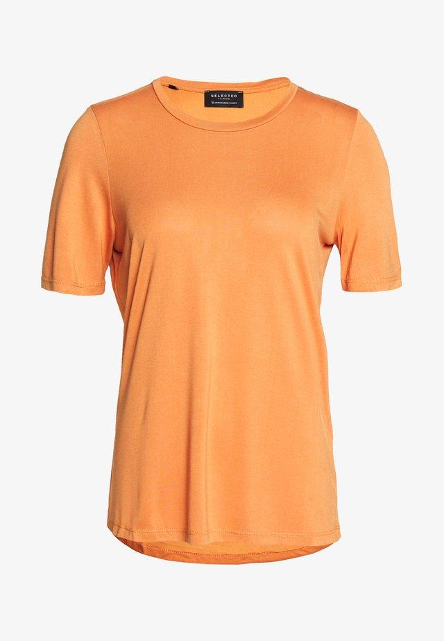 SLFELLA TEE SEASONAL - Basic T-shirt - caramel