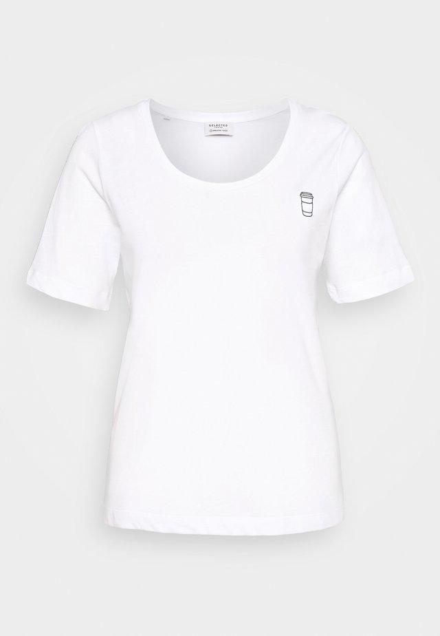 SLFLATTE TEE - Basic T-shirt - bright white