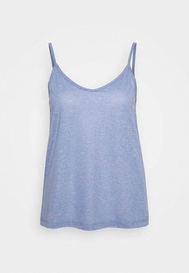 SLFIVY  V NECK STRAP - Top - country blue