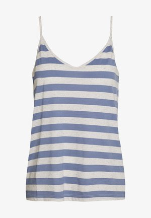 SLFIVY  V NECK STRAP - Linne - country blue/white