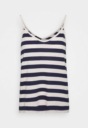 SLFIVY  V NECK STRAP - Top - maritime blue/white