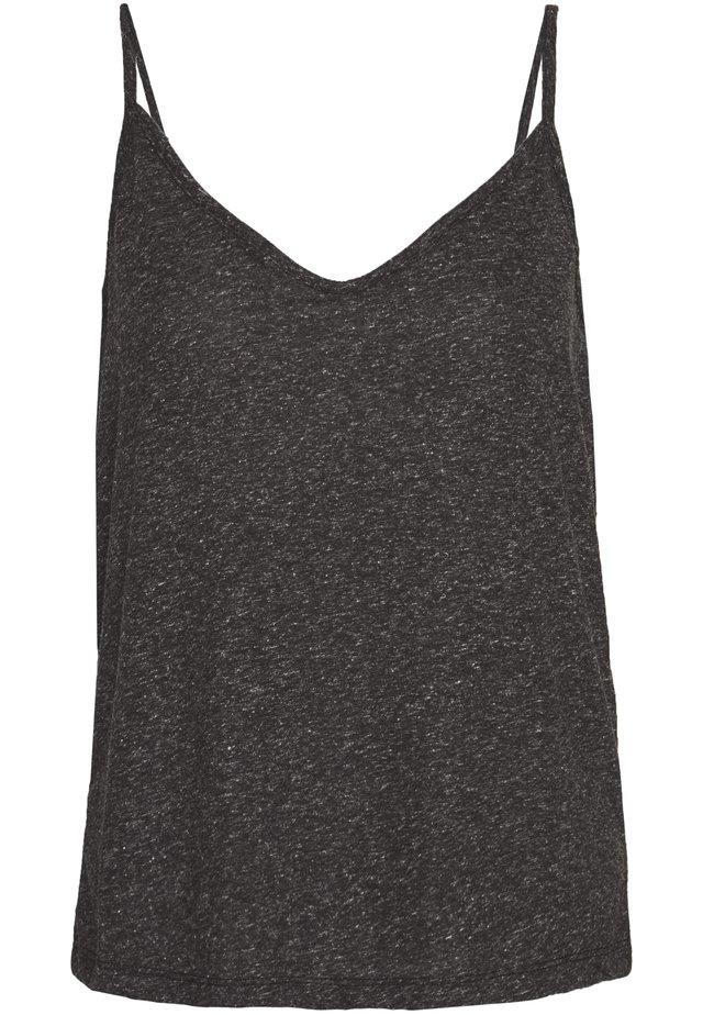 SLFIVY  V NECK STRAP - Top - black