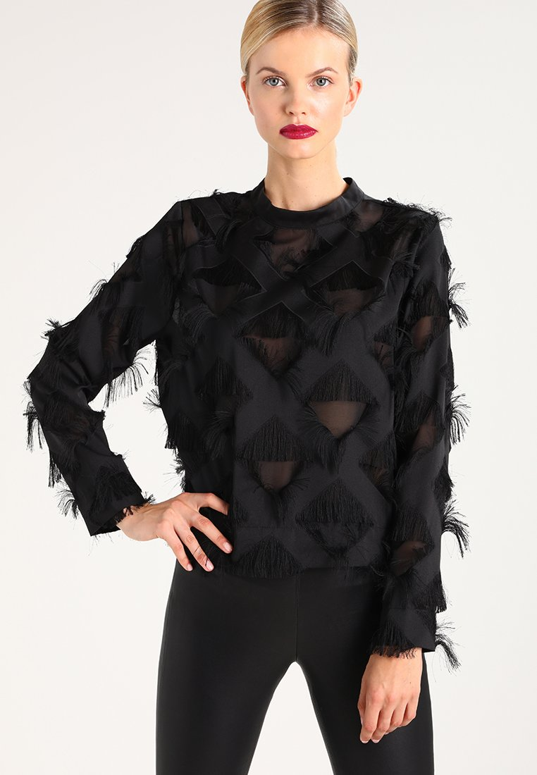 Selected Femme - B&&B SFKIMA  - Blouse - black