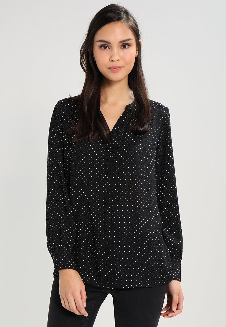 Selected Femme - SLFDAMINA DOT LS SHIRT - Košile - black/snow white dots