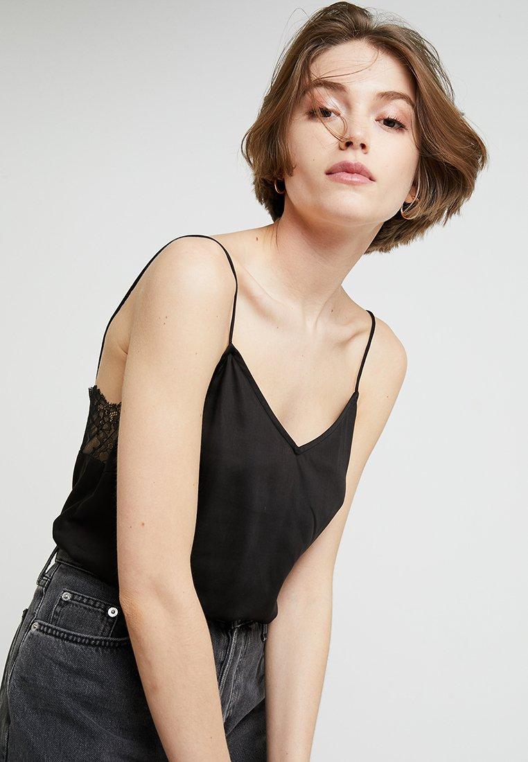 Selected Femme - SLFLAYLA STRAP - Top - black
