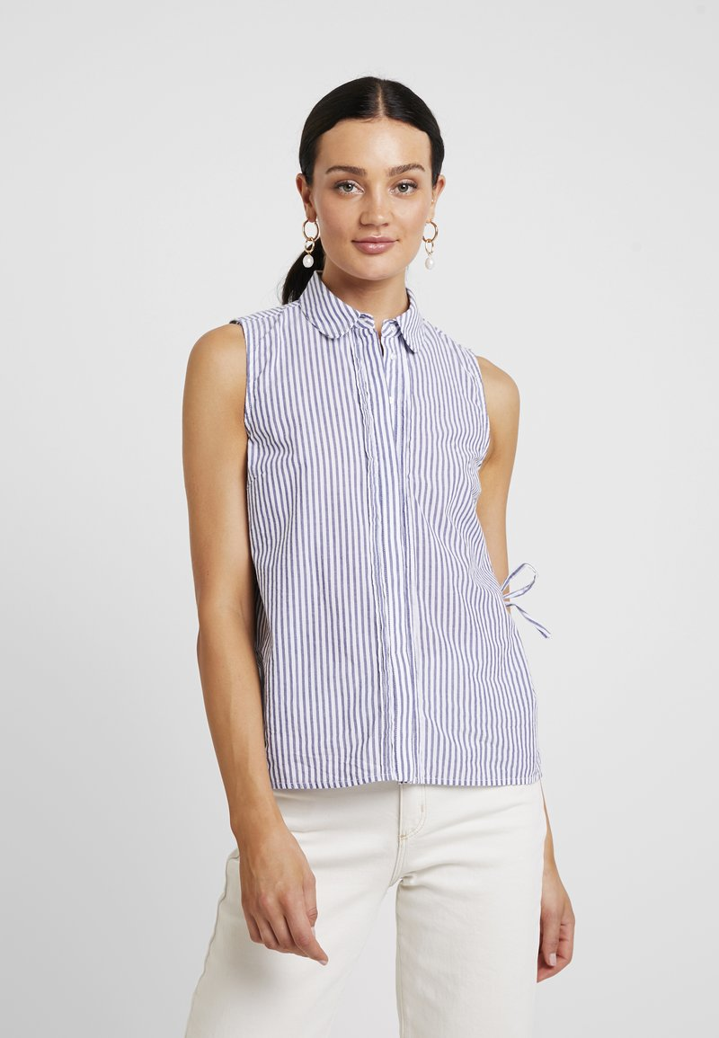 Selected Femme - SLFCASSY - Hemdbluse - vintage indigo/bright white