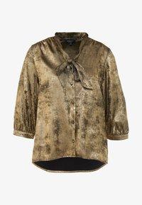 Selected Femme - SLFAURELIA 3/4 NECK TIE - Blouse - gold colour - 3