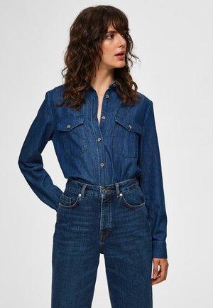 ROBUSTES - Button-down blouse - dark blue