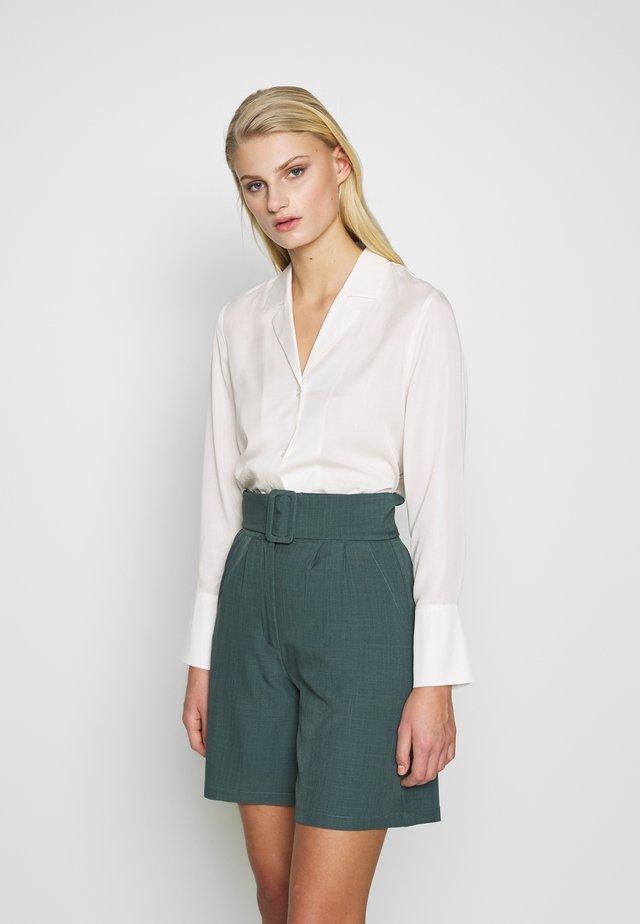 SLFIDA LONG SHIRT  - Button-down blouse - snow white