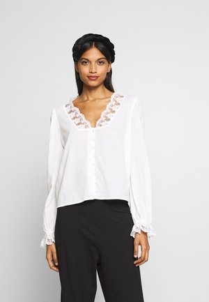 SLFATHENE V-NECK - Bluse - snow white