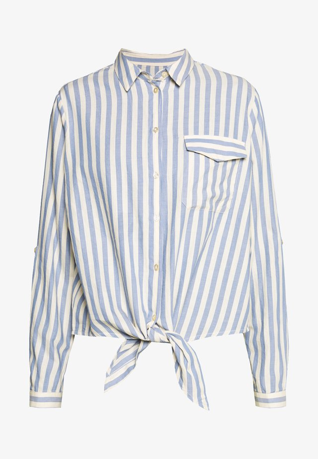 SLFZENIA - Button-down blouse - country blue/sandshell