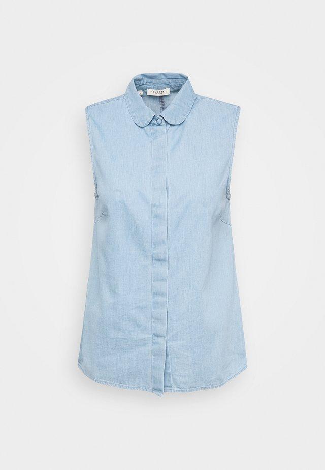 SLFNOVO - Button-down blouse - light blue