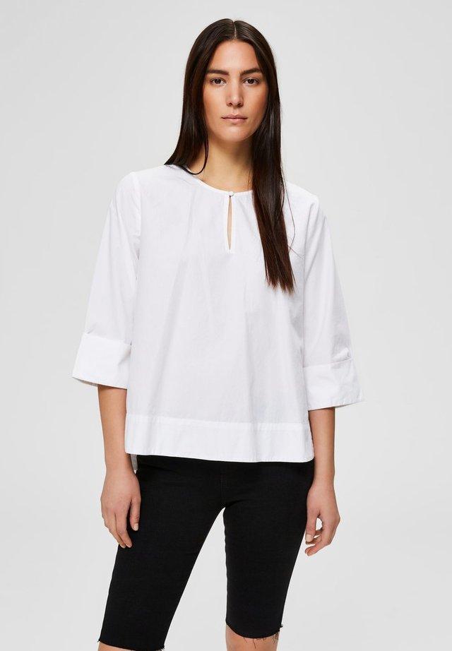 MIT 3/4 ÄRMELN - Bluzka - bright white