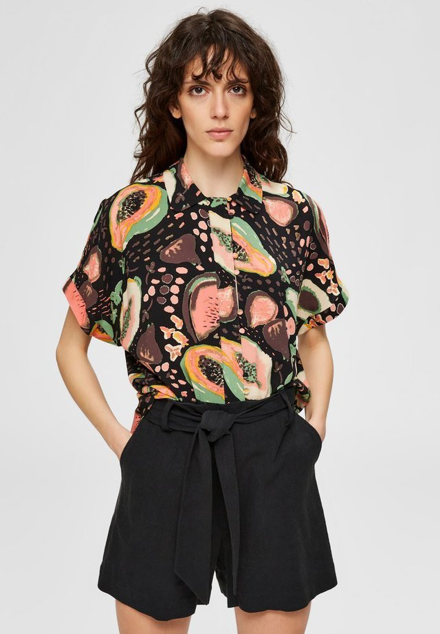 TUTTI FRUTTI  - Button-down blouse - black