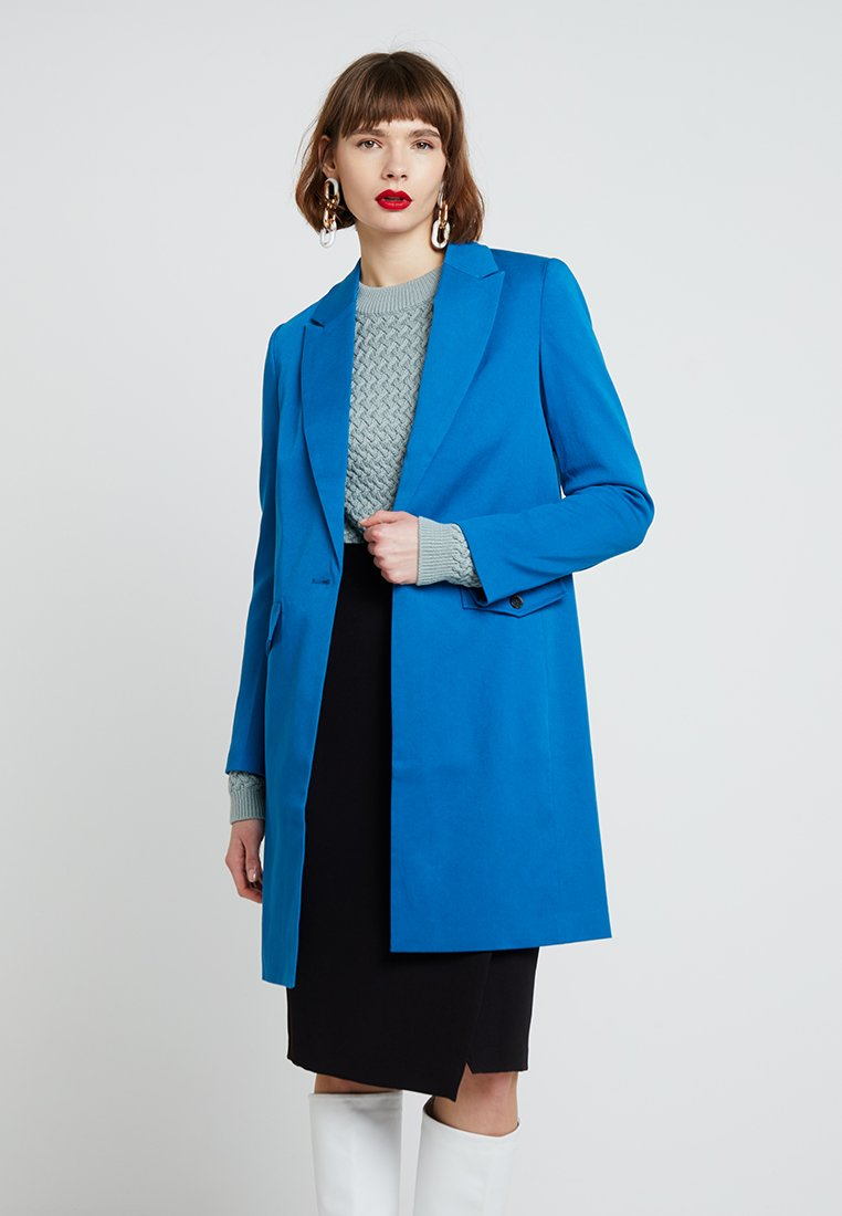 Selected Femme - SLFAGATHA LONG - Short coat - mykonos blue