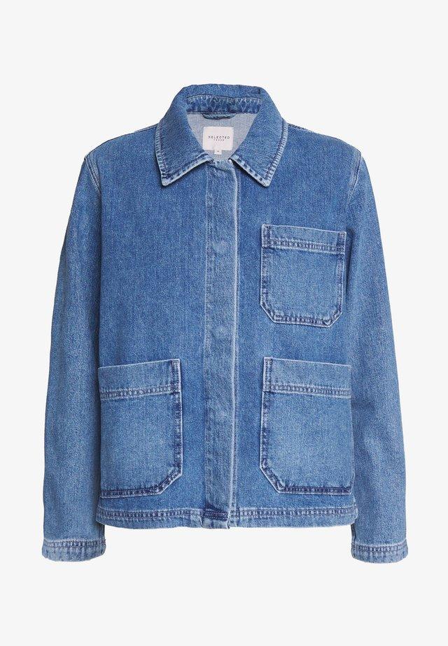 SLFMARTHA MID JACKET - Denim jacket - medium blue denim