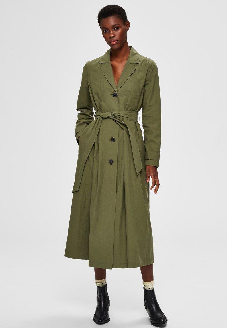 Selected Femme - Trenchcoat - four leaf clover