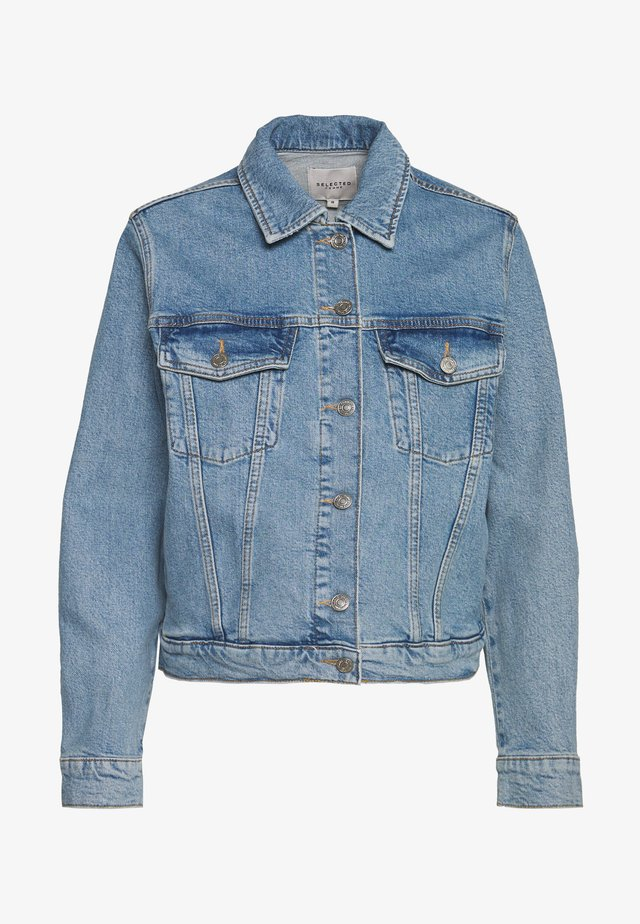 SLFSTORY BAIR JACKET - Denim jacket - light blue denim