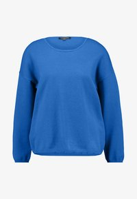Selected Femme - SLFMINNA O NECK - Svetr - mykonos blue - 4