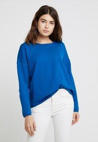 Selected Femme - SLFMINNA O NECK - Svetr - mykonos blue - 0