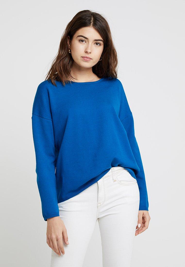 Selected Femme - SLFMINNA O NECK - Strickpullover - mykonos blue