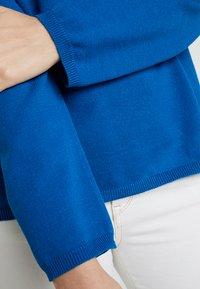 Selected Femme - SLFMINNA O NECK - Svetr - mykonos blue - 5