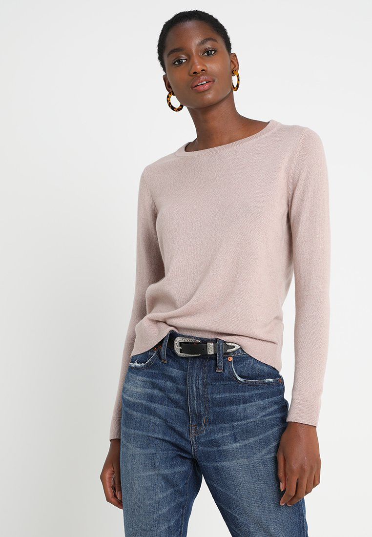 Selected Femme - SLFAYA O NECK - Stickad tröja - rose