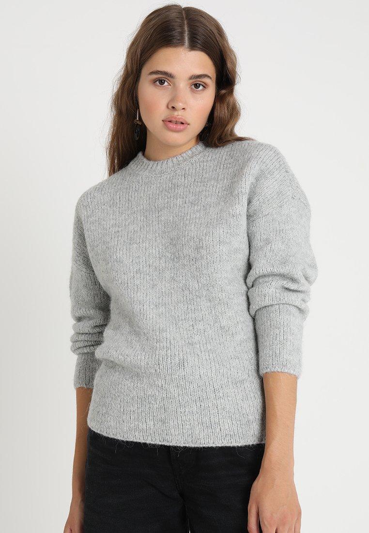 Selected Femme - SLFREGINA O NECK - Jumper - light grey melange