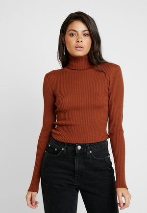SLFCOSTA ROLLNECK - Jumper - ginger bread