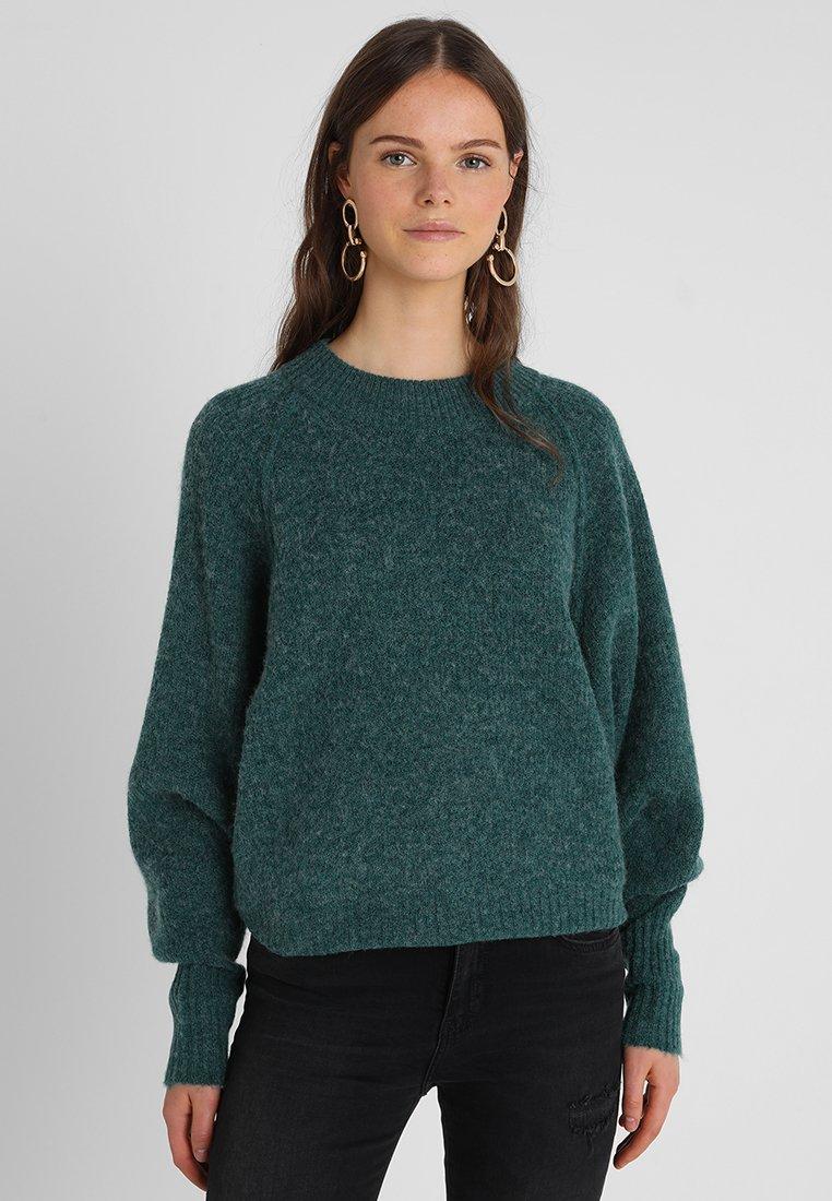 Selected Femme - SLFENA O NECK - Jumper - teal green/melange