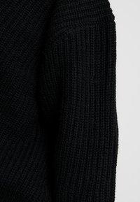 Selected Femme - SLFROSE V NECK  - Svetr - black - 5