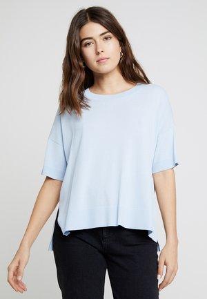 SLFWILLE O NECK - T-shirt print - skyway