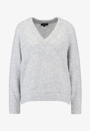 SLFLANNA VNECK - Jersey de punto - light grey melange