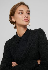 Selected Femme - SLFLANNA CARDIGAN - Cardigan - dark grey melange - 5