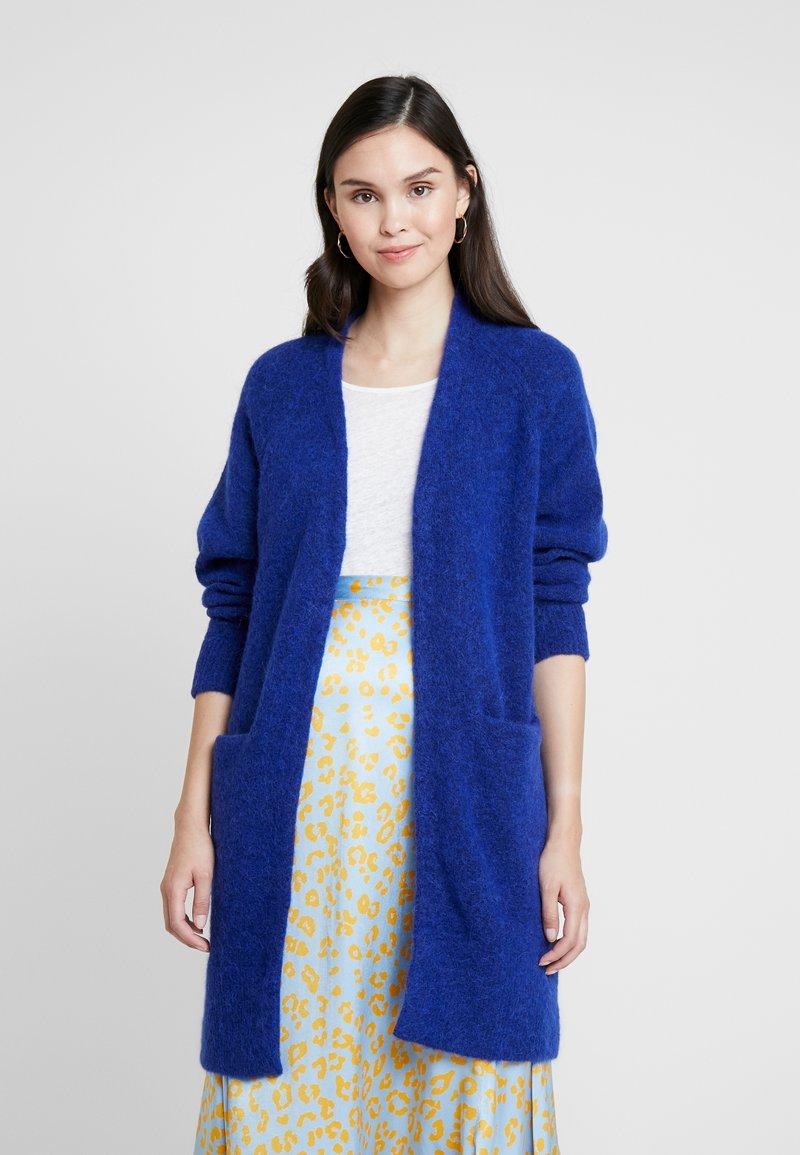 Selected Femme - SLFLANNA CARDIGAN - Strickjacke - clematis blue/melange