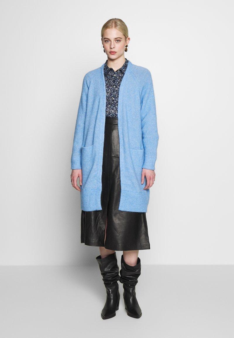Selected Femme - SLFLANNA CARDIGAN - Kardigan - della robbia blue/melange