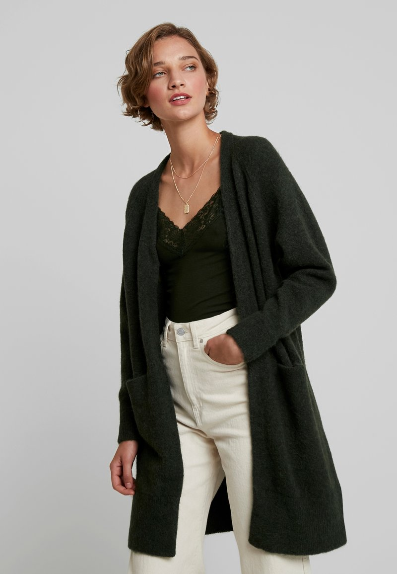 Selected Femme - SLFLANNA CARDIGAN - Strikjakke /Cardigans - rosin/melange