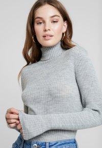 Selected Femme - Jersey de punto - light grey melange - 3
