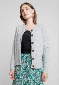 Selected Femme - SLFSIA - Chaqueta de punto - light grey melange - 0