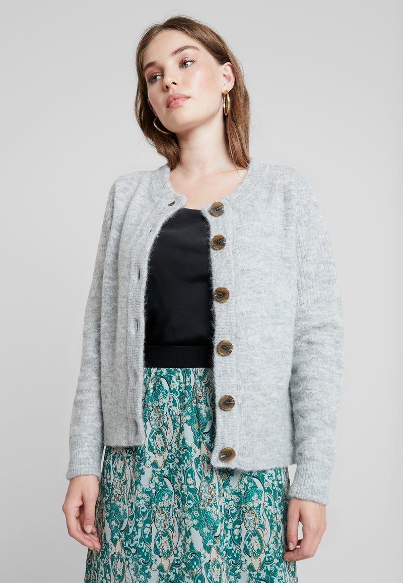 Selected Femme - SLFSIA - Chaqueta de punto - light grey melange